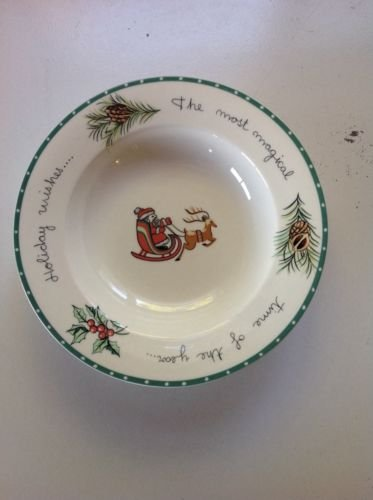 - Mikasa Ultima Super Strong Fine China Christmas Wish Soup Cereal Rimmed Bowl Hk 713
