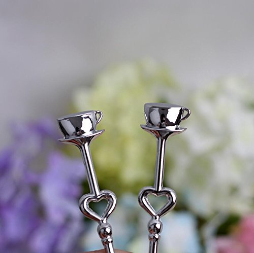 Love Heart Stainless Steel Couple Coffee Spoons For Wedding Favor and baby shower, Set of 100 by cute rabbit (Image #2)