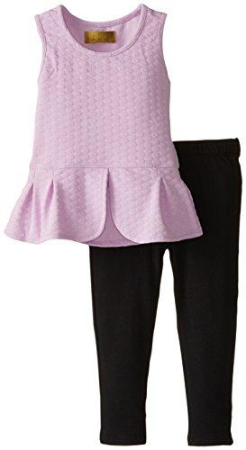 Nicole Miller Little Girls' Tulip Hem Tunic with Legging Set, Orchid Bloom, 4T