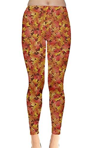 CowCow Womens Brown Fallen Autumn Warm Maple Leaves Leggings, XS-5XL supplier