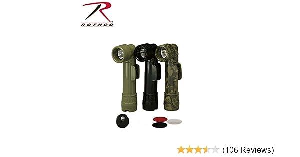 Anglehead Flashlight 689 Rothco BLACK Genuine G.I 2 D-Cell