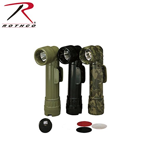 Rothco Gi D Anglehead Flashlight, Olive Drab