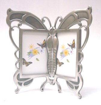 Pewter Baby Frame Finish (2-2×3 Hinged Butterfly (Item # 853) Rocket Fast Shipping !!!)