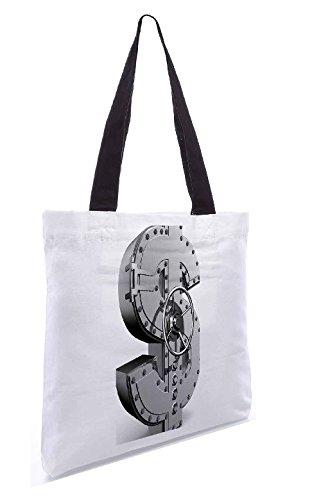 Snoogg Geldbank 13,5 x 15 Zoll-Shopping-Dienstprogramm-Einkaufstasche aus Polyester-Segeltuch gemacht
