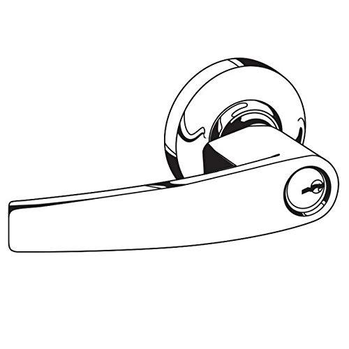 Jupiter Lever Design Bright Brass Finish Entry Function Turn//Push Button Locking Schlage Commercial AL53JUP605 AL Series Grade 2 Cylindrical Lock