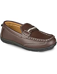 Loafer for Boys; Moccasin Boys Loafers, Faux Leather