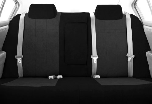 CalTrend Rear Row 40/60 Split Back and Solid Cushion Custom Fit Seat Cover for Select Chevrolet Cruze Models - MicroSuede (Charcoal Insert with Black Trim)