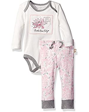 Baby Organic Long Sleeve Bodysuit and Pant Set