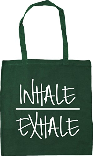 litres Beach 42cm and Bag x38cm Gym 10 Green Exhale Bottle Tote HippoWarehouse Inhale Shopping nPqw8YBB
