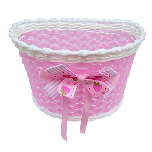 TOPCABIN Bike Basket For Girls And Boys Kid's Bicycle Basket Bike Front Basket Bicycle Cycling Children Kids Girls (Pink)