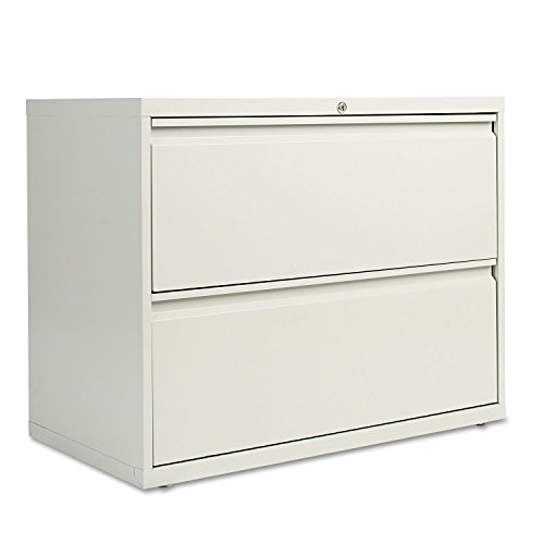 Alera LF3629LG Two Drawer Lateral File Cabinet, 36w X 19 1/4d X 28 3/8h,  Light Gray