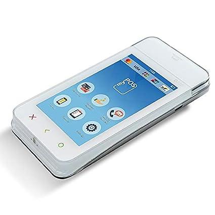 myPOS Mini Ice Lector de tarjetas de crédito de bolsillo de hielo con tarjeta de datos incluida para conexión a Internet constante y constante para ...