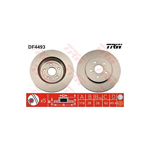 Genuine TRW Vented Brake Discs - Part Number DF4493: