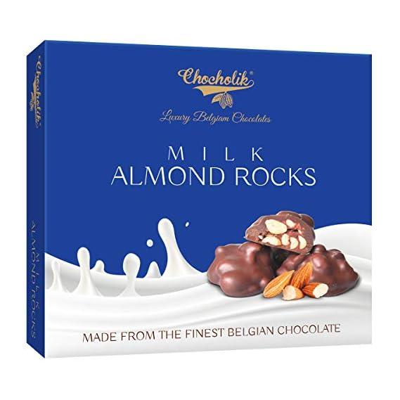 Chocholik Belgium Milk Almond Rocks - Lovable Bite for Everyone Chocolate Gift - 100gm