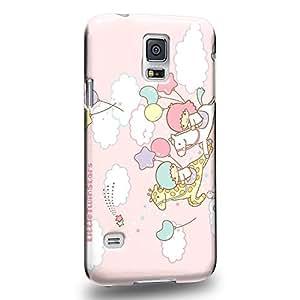 Case88 Premium Designs Little Twin Star Kiki And Lala Dreamy Diary 1344 Carcasa/Funda dura para el Samsung Galaxy S5