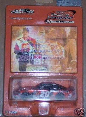 (Tony STewart #20 2002 Home Depot Phillips Pontiac Grand Prix Orange Metalflake Color Winston Cup Championship Action 1/64 With Hologram Card)
