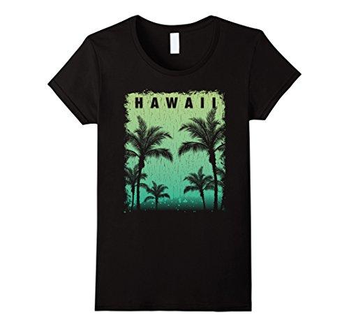 Womens Vintage Hawaiian Islands Tee Hawaii Aloha State T Shirt Small Black