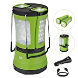 LE LED Camping Lantern with 2 Detachable Torches, USB Rechargeable and Battery Powered, 600 Lumen Tent Light, Outdoor Searchlight for Emergency, Hiking, Fishing, Power Cuts and More