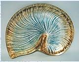 Glass Nautilus Plate w/ Stand