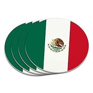Mexico National Country Flag Coaster Set