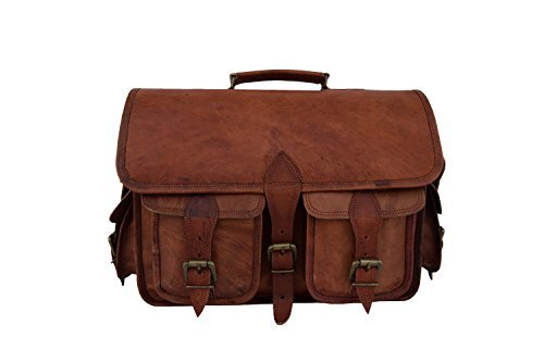 Leather DSLR Camera Bag with removable inserts, 13-Inches La