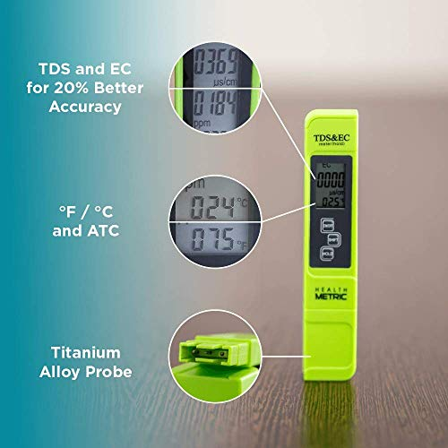 Professional TDS ppm Conductivity Meter - Quick and Easy EC