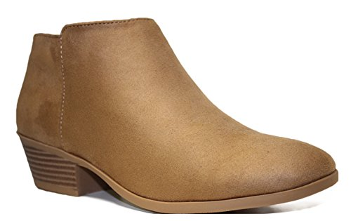 Soda Womens Stacked Western Bootie product image