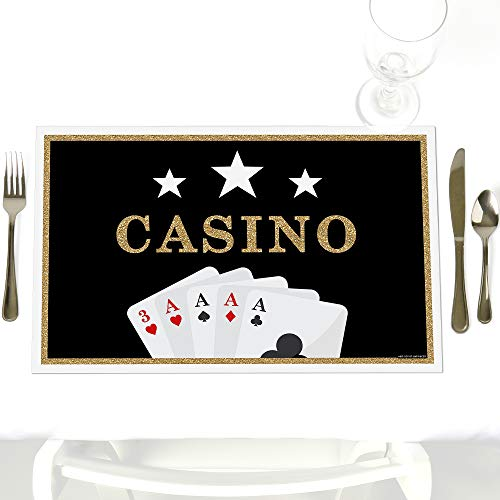 Las Vegas - Party Table Decorations - Casino Party Placemats - Set of 12 (Vintage Vegas Casino Las)