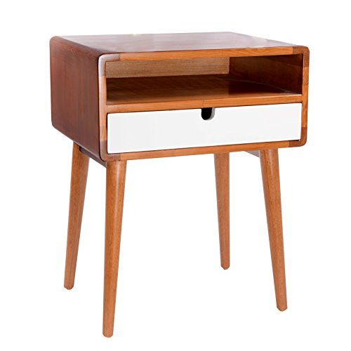 Porthos Home Anais Side Table, White For Sale