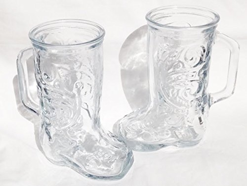 Anchor Hocking Collector Series 12.5 oz. Crystal Glass Boot Mug (Set of 2 Mugs) -