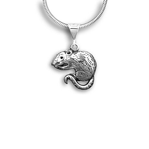 Pet Rats In Costumes (Sterling Silver Rat Pendant by The Magic Zoo)