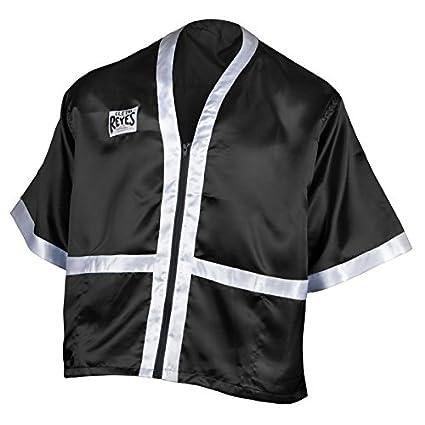 e5901d1e02 Amazon.com   Cleto Reyes Corner Staff Satin Boxing Robe - Black ...