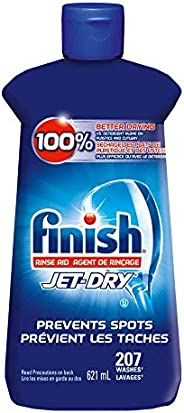 Finish Jet-Dry Rinse Aid, Original, 621ml, Dishwasher Rinse Agent & Drying A