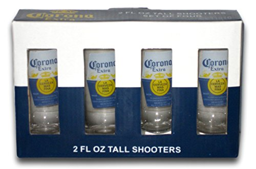Corona Extra 2 Oz. Tall Shooter Shot Glasses Set of 4