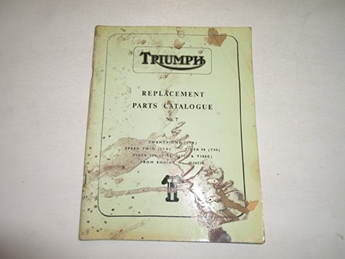 1966 Triumph Replacement Parts Catalog Catalogue No.7 3TA 5TA T90 T100C T100R