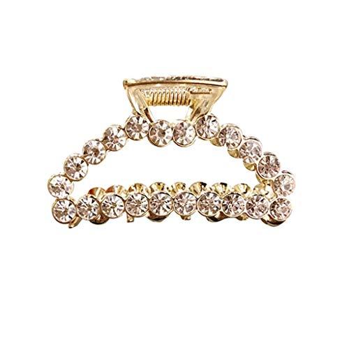 (Women Pearl Diamond Hair Clip Bobby Pin Hairband Hairpin Barrette Comb)