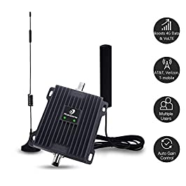 Cell Phone Signal Booster for Car, Truck and SUV – Enhance 4G Data and Volte for Verizon, AT&T and T-Mobile – Dual…