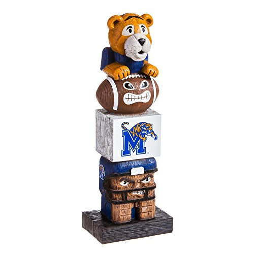 Evergreen NCAA Memphis Tigers Tiki Totem, Team Colors, One Size