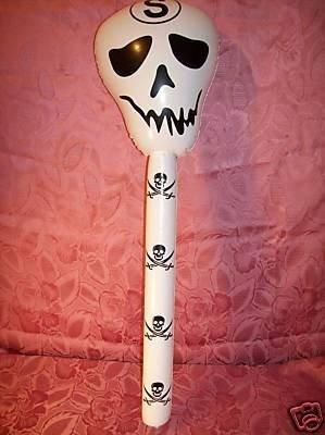 Hinchable Calavera Cráneo bate Halloween Gothic blanco ...