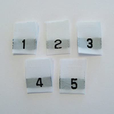 ed8c0d2dad39 ShuShuStyle Mixed Child (1, 2, 3, 4 & 5) Woven Clothing Size Labels  (Package of 50)