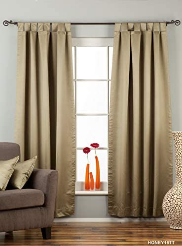 Indian Selections Olive Green Tab Top 90 Blackout Curtain/Drape/Panel