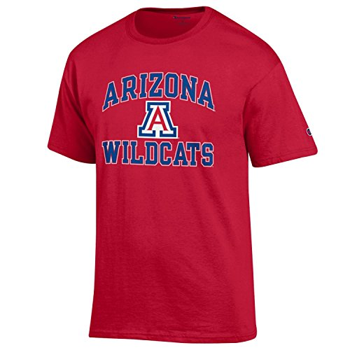 - Champion NCAA Men's Shirt Short Sleeve Officially Licensed Team Color Tee, Arizona Wildcats, Small