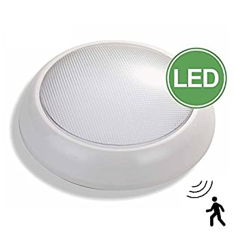 led bulkhead fitting with built in microwave sensor 16watt ip54 white