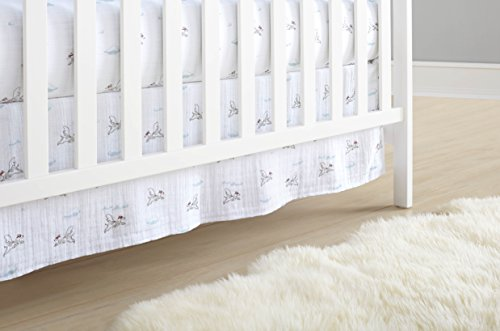 aden + anais Classic Crib Skirt, Liam The Brave, Dogs (Bedding Toddler Classic)