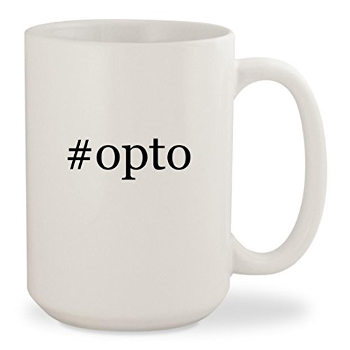 #opto - White Hashtag 15oz Ceramic Coffee Mug Cup