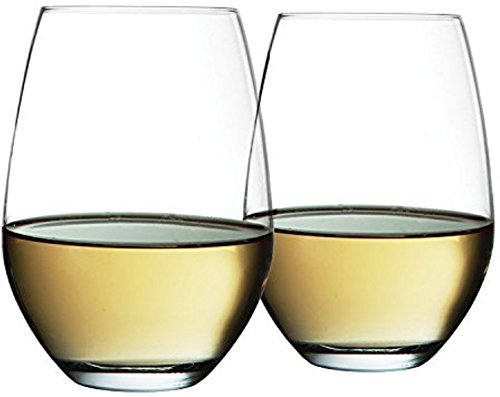 Circleware Symphony Stemless Red-White Wine Glasses, 20 ounce, Set of 4