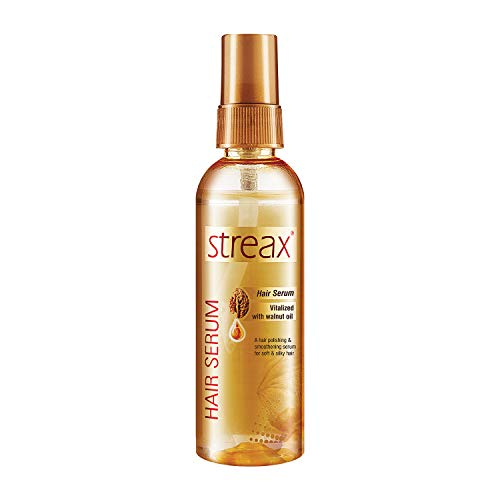 Streax Hair Serum for Women & Men | Contains Walnut Oil | Instant Shine & Smoothness | Regular use Hair Serum for Dry…