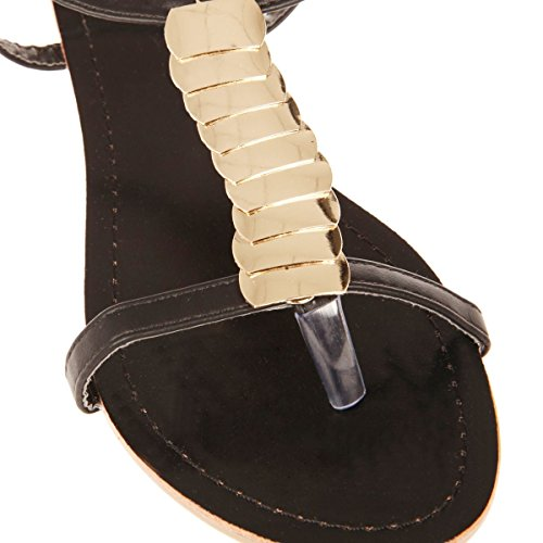 La Modeuse - Sandalias de vestir para mujer negro - negro