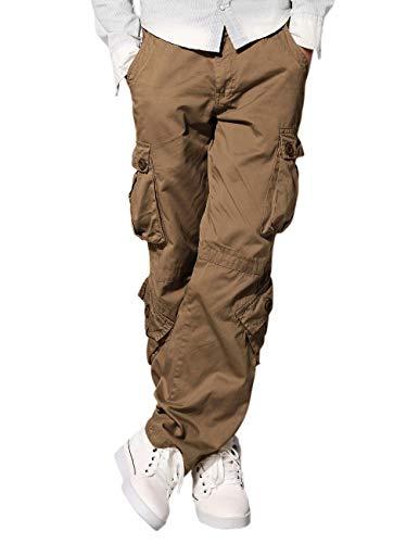 (Match Men's Straight Fit Wild Cargo Pants(32,6064 Khaki))