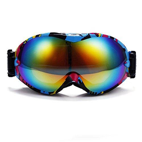 TeyxoCo Ski Goggles Hicool Pro Snowboard Skating Goggle Duel Anti-Fog Wide Spherical Anti-Slip ()